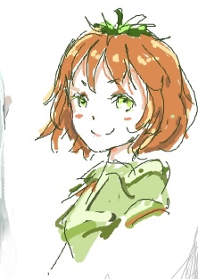 green_eyes hurma hurma-chan orange_hair
