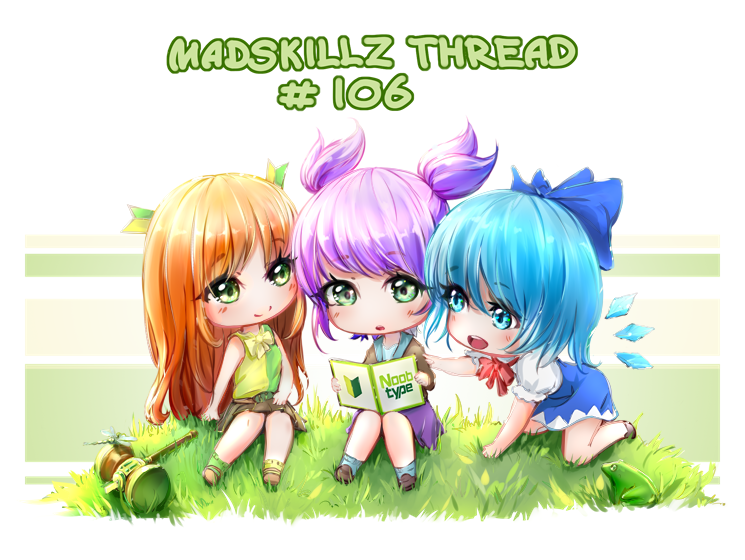 3girls banhammer banhammer-tan cirno madskillz madskillz_thread_oppic noobtype purple_hair red_hair unyl-chan