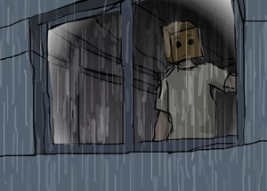 Rating: Safe Score: 0 Tags: anonymous bag_over_head crossover higurashi_no_naku_koro_ni house paper_bag rain window User: (automatic)Willyfox
