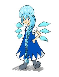 Rating: Safe Score: 0 Tags: ⑨ blue_hair blush bow braid cirno ded_moroz hands_on_hips hat kokoshnik new_year russian smile snegurochka /to/ touhou traditional_clothes valenki wings winter_clothes User: (automatic)timewaitsfornoone
