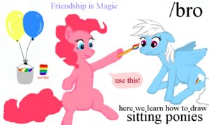 Rating: Safe Score: 0 Tags: /bro/ brush flockdraw has_child_posts my_little_pony no_humans oekaki painting pinkie_pie pony rainbow_dash sketch wings User: (automatic)Anonymous