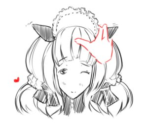 Rating: Safe Score: 0 Tags: animal_ears blush hon-hon long_hair maid maid_headdress maid_outfit monochrome oxykoma_(artist) sketch User: (automatic)Anonymous