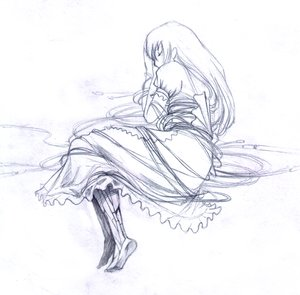 Rating: Safe Score: 0 Tags: android long_hair maid monochrome robot sketch sleeping traditional_media wire User: (automatic)ii