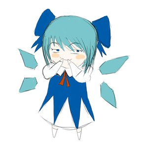 Rating: Safe Score: 0 Tags: blue_eyes blue_hair blush_stickers bow cirno colored evil_smile hands_on_mouth short_hair simple_background sketch tagme touhou wings User: (automatic)Willyfox