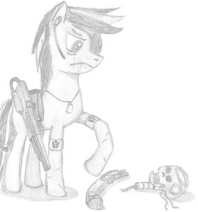 Rating: Questionable Score: 0 Tags: animal /bro/ character_request crossover gun monochrome my_little_pony my_little_pony_friendship_is_magic no_humans pony sad simple_background tagme traditional_media User: (automatic)Anonymous