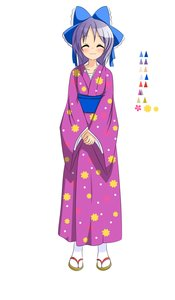Rating: Safe Score: 0 Tags: ^_^ :3 blush game_sprite hair_bow hiiragi_kagami japanese_clothes kimono long_hair /ls/ lucky_star purple_hair simple_background smile tabi v_hands yukata User: (automatic)Anonymous
