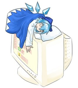 Rating: Safe Score: 0 Tags: blanket cirno computer display imageboard open_mouth pillow shirt sleeping touhou wings User: (automatic)ii