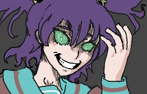Rating: Safe Score: 0 Tags: evil_smile green_eyes grin madness purple_hair sketch twintails unyl-chan User: (automatic)Anonymous