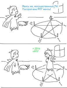 Rating: Safe Score: 0 Tags: cirno madskillz magic monochrome parody pentagram rpg sketch strip zlokot User: (automatic)Anonymous