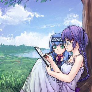 Rating: Safe Score: 0 Tags: blue_eyes blue_hair bow braid branch breasts cloud dress elemental_gelade f2d_(artist) flower glasses grass green_eyes headband lake leaf long_hair ornament pad paper pen purple_hair ren reverie_metherlence ribbon smile tablet tree twin_braids viro virzoeve_eclairouer water User: (automatic)lol.me