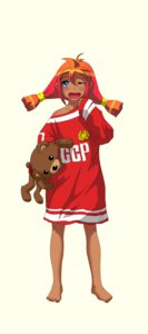 Rating: Safe Score: 0 Tags: ahoge barefoot blue_eyes blush dark_skin eroge game_sprite hudozhnik-kun_(artist) open_mouth oversized_clothes pedobear plush_toy red_hair shirt simple_background tears toy transparent_background t-shirt twintails ussr-tan wink yawning User: (automatic)nanodesu