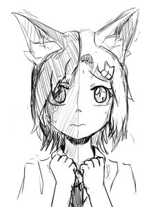 Rating: Safe Score: 0 Tags: animal_ears cat_ears chimera hairpin hineko-tan monochrome personification short_hair sketch User: (automatic)Anonymous