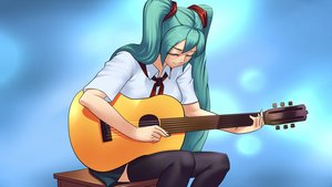 Rating: Safe Score: 0 Tags: aqua_hair black_legwear closed_eyes eroge game_cg guitar hatsune_miku hatsune_miku_(eroge) highres instrument long_hair necktie pioneer pioneer_necktie pioneer_uniform shirt sitting skirt thighhighs twintails very_long_hair vocaloid zettai_ryouiki User: (automatic)Anonymous
