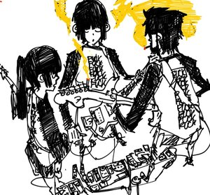 Rating: Safe Score: 0 Tags: 2girls black_hole-chan bomb-chan bomb-kun bomb-kun_(artist) cigarette guitar instrument long_hair male monochrome music short_hair sketch smoking User: (automatic)nanodesu