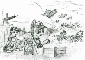 Rating: Questionable Score: 0 Tags: animal /bro/ colt crossover fim gun horns mare mlp mlp:fim monochrome my_little_pony no_humans pegasus pony sketch stallion tagme unicorn war wings User: (automatic)Anonymous