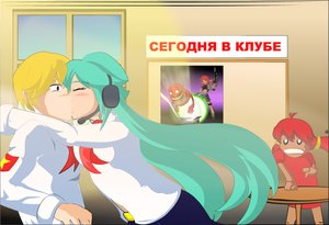 Rating: Safe Score: 0 Tags: aqua_hair blonde_hair blush closed_eyes co_(artist) eroge ghostbusters hatsune_miku headset hug kiss long_hair male necktie parody pioneer pioneer_tie pioneer_uniform poster red_beardman red_hair semyon_(character) shirt shocked short_hair tagme text twintails ussr-tan vocaloid weapon window User: (automatic)nanodesu