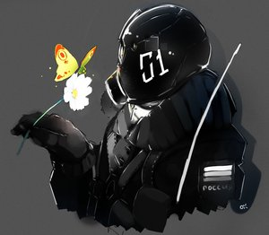 Rating: Safe Score: 0 Tags: butterfly flower gas_mask military oxykoma_(artist) User: (automatic)Anonymous