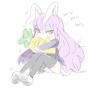 Rating: Safe Score: 0 Tags: arsenixc_(artist) blush bunny_ears carrot eating long_hair purple_hair red_eyes reisen_udongein_inaba sitting thighhighs touhou zettai_ryouiki User: (automatic)Anonymous