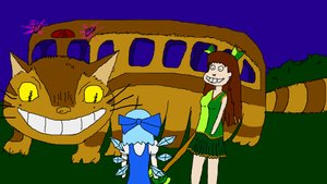 Rating: Questionable Score: 0 Tags: banhammer-tan catbus cirno ghibli parody User: (automatic)Anonymous