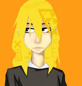 Rating: Safe Score: 0 Tags: black_eyes bomb-chan bomb-kun_(artist) long_hair simple_background stylish yellow_hair User: (automatic)nanodesu