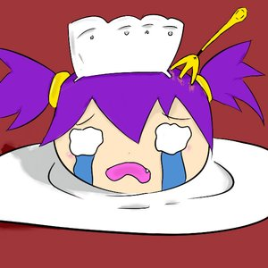 Rating: Safe Score: 0 Tags: 0_0 bizarre fork gore maid_headdress plate purple_hair tears twintails unyl-chan yukkuri User: (automatic)timewaitsfornoone