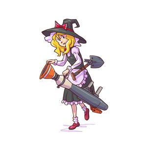 Rating: Safe Score: 0 Tags: apron blonde_hair bow co2_(artist) co_(artist) crossover dress hat kirisame_marisa long_hair shovel simple_background team_fortress_2 touhou weapon witch_hat User: (automatic)Anonymous