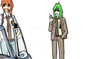 Rating: Safe Score: 0 Tags: 2girls ahoge bomb-chan bomb-kun_(artist) braid business_suit car denim glasses green_hair hands_in_pockets long_hair manly mustache necktie police police_uniform radio shirt simple_background sunglasses tsar-bomb-chan uniform User: (automatic)nanodesu