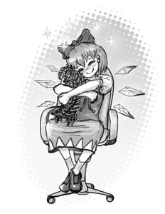 Rating: Safe Score: 0 Tags: blush bow cirno dress happy hug insect monochrome possible_duplicate short_hair sitting sketch touhou wings User: (automatic)Anonymous