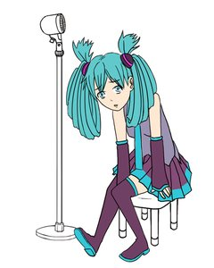 Rating: Safe Score: 0 Tags: alternate_hairstyle aqua_eyes aqua_hair black_legwear detached_sleeves hatsune_miku long_hair microphone rudik_(artist) simple_background sitting skirt thighhighs twintails vocaloid zettai_ryouiki User: (automatic)nanodesu