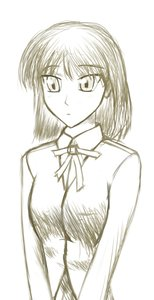Rating: Safe Score: 0 Tags: monochrome ribbon school_rumble short_hair simple_background sketch tsukamoto_yakumo User: (automatic)nanodesu