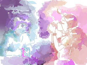 Rating: Safe Score: 0 Tags: atmospheric cigarette cup drinking glasses pink purple sketch smoke smoking User: (automatic)nanodesu