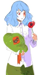 Rating: Safe Score: 0 Tags: blue_hair flower helmet oxykoma_(artist) red_eyes ribbon simple_background User: (automatic)Anonymous