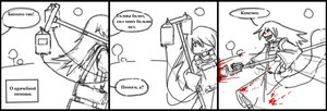 Rating: Safe Score: 0 Tags: blood character_request evil_smile long_hair monochrome panzermeido_(artist) sketch strip tagme User: (automatic)nanodesu