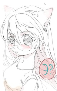 Rating: Safe Score: 0 Tags: animal_ears blush cat_ears glasses long_hair /o/ oekaki sketch User: (automatic)Anonymous