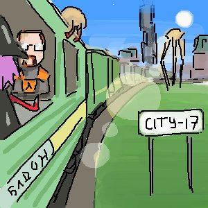 Rating: Safe Score: 1 Tags: city17 gordon_freeman half-life headcrab lowres /o/ oekaki outdoors train unyl-chan unylmage User: (automatic)Anonymous