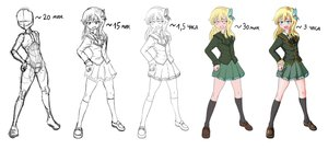 Rating: Safe Score: 0 Tags: 1girl alternate_breast_size aqua_eyes ascot blazer blonde_hair blush boku_wa_tomodachi_ga_sukunai butterfly collage fang flat_chest hand_on_hip kashiwazaki_sena kneesocks lineart loafers long_hair microdesu_(artist) open_mouth school_uniform shoes sketch skirt solo User: (automatic)Anonymous