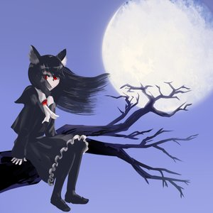 Rating: Safe Score: 0 Tags: animal_ears black_hair branch cat_ears full_moon long_hair moon night red_eyes sitting tree User: (automatic)Anonymous