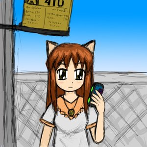 Rating: Safe Score: 0 Tags: animal_ears blush brown_hair bus_stop cat_ears cellphone dress fence long_hair pendant phone sauce_(artist) uvao-chan yellow_eyes User: (automatic)timewaitsfornoone