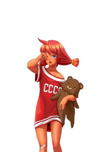 Rating: Safe Score: 0 Tags: ahoge bandaid bear blue_eyes blush highres hudozhnik-kun_(artist) main_page orikanekoi_(artist) red_hair shirt simple_background sleepy toy t-shirt twintails ussr-tan User: (automatic)Anonymous