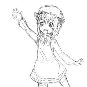 Rating: Safe Score: 0 Tags: cat_ears chen monochrome sketch touhou User: (automatic)ii