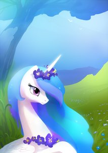 Rating: Safe Score: 0 Tags: alicorn animal /bro/ flower grass horns mare multicolored_hair my_little_pony my_little_pony_friendship_is_magic no_humans outdoors pony princess_celestia purple_eyes sky tree wings User: (automatic)Anonymous