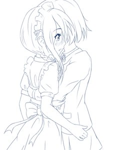 Rating: Safe Score: 0 Tags: 2girls apron blush braid dress hug lineart maid maid_headdress maid_outfit monochrome multiple_girls short_hair simple_background skirt tears User: (automatic)Anonymous