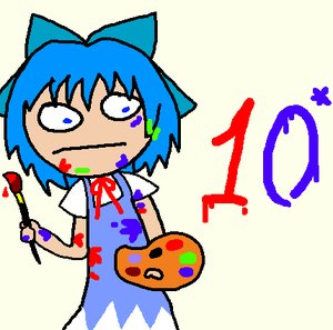 Rating: Safe Score: 0 Tags: blue_hair bow brush cirno dress madskillz_thread_oppic paint short_hair User: (automatic)lol.me