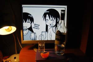 Rating: Safe Score: 0 Tags: 2d_dating alcohol azumanga_daiou bottle computer photo vodka User: (automatic)Anonymous