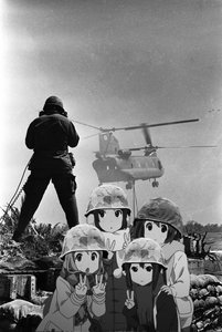 Rating: Safe Score: 0 Tags: akiyama_mio helicopter helmet hirasawa_yui k-on! kotobuki_tsumugi military monochrome multiple_girls nakano_azusa photo photoshop v vietnam User: (automatic)Anonymous