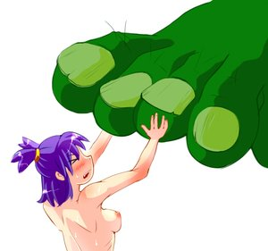 Rating: Explicit Score: 0 Tags: >_< 1girl blush feet foot_fetish giant green_skin idleantics_(artist) nipples nude purple_hair troll twintails unyl-chan User: (automatic)timewaitsfornoone
