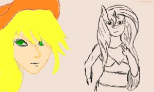 Rating: Safe Score: 0 Tags: applejack blonde_hair /bro/ collective_drawing flockdraw green_eyes hat horn horns humanization madskillz my_little_pony oekaki pony sketch User: (automatic)Anonymous