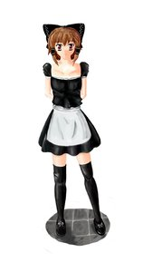 Rating: Safe Score: 0 Tags: alternate_costume apron black_legwear bow brown_hair dress hair_tubes hakurei_reimu maid maid_outfit red_eyes simple_background thighhighs /to/ touhou zettai_ryouiki User: (automatic)nanodesu