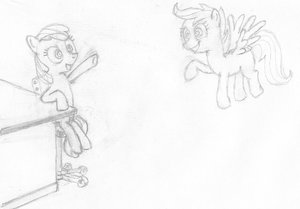 Rating: Safe Score: 0 Tags: animal applebloom /bro/ cmc cutie_mark_crusaders filly fim has_child_posts mare mlp mlp:fim monochrome my_little_pony no_humans pegasus pony scootaloo simple_background sitting sketch table traditional_media wings User: (automatic)Anonymous