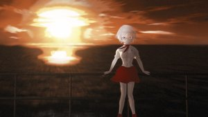 Rating: Safe Score: 0 Tags: 2032 3d asgu blue_eyes explosion fire glasses highres midriff outdoors pioneer_necktie shirt short_hair skirt sky wallpaper white_hair User: (automatic)Anonymous